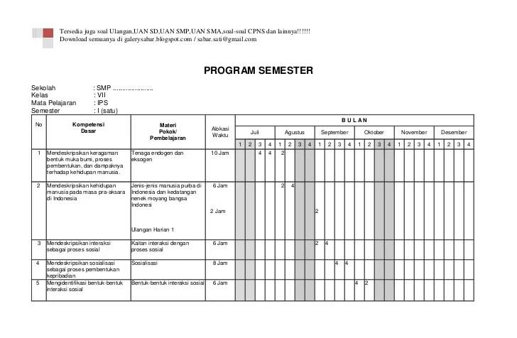 Rpp 2013 Ips Sedia Contoh Rpp Kurikulum 2013 Lengkap Pusatrpp Program Semester Ips Kelas Vii Smp