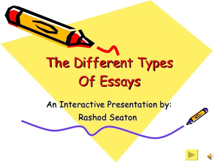 two kinds of essay - Josemulinohouse - what are the different kinds of essay
