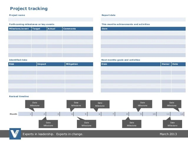 project milestone tracker - Josemulinohouse