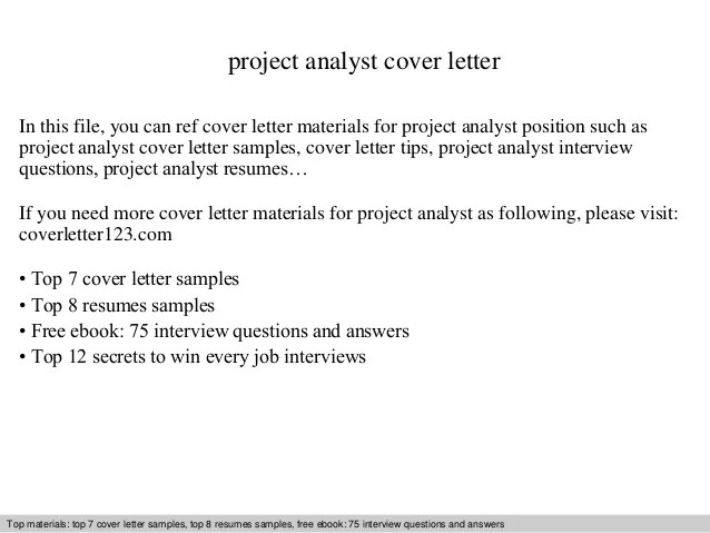 analyst cover letter sample - Josemulinohouse