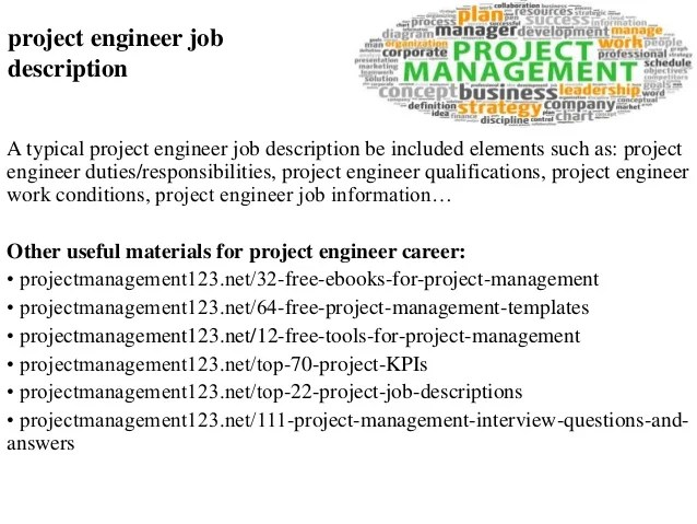project management job description