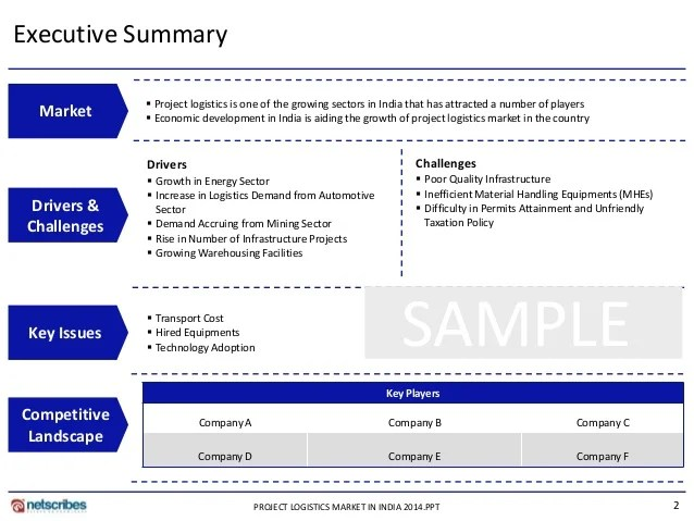 research project report template - Template - executive summary format for project report