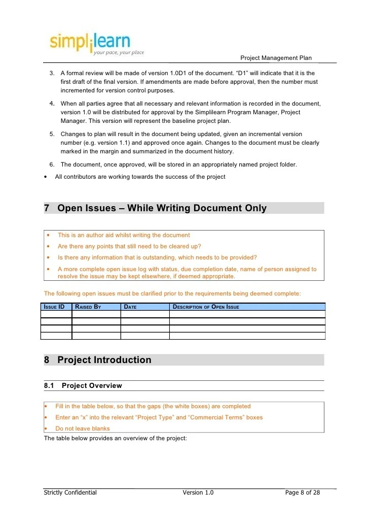 open issues list template - Josemulinohouse