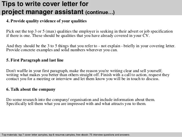 cover letter for project manager - Intoanysearch