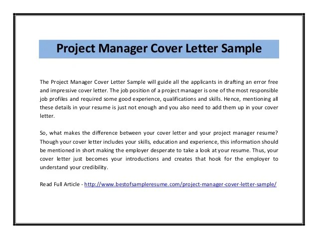 cover letter sample pdf