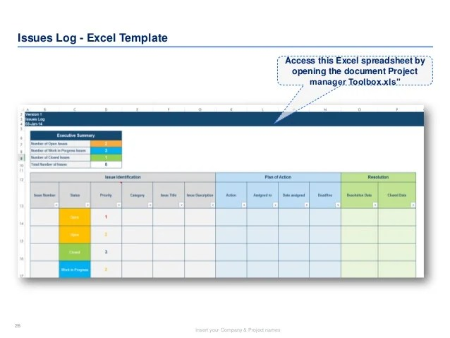 issue log template xls - Josemulinohouse - issue log template