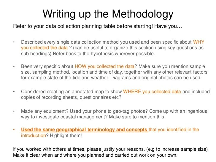 Methodology In Thesis Writing