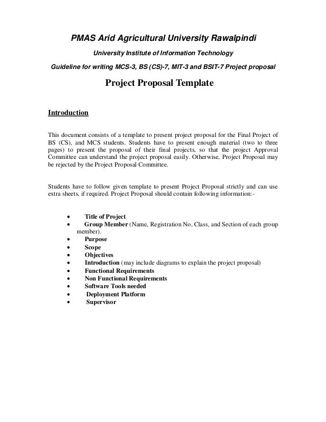 engineering project proposal format - Erkaljonathandedecker - Project Proposal Template Sample