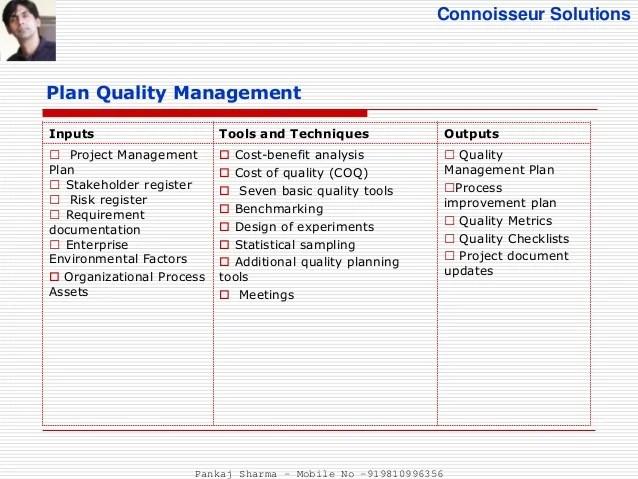 quality management plan - Onwebioinnovate