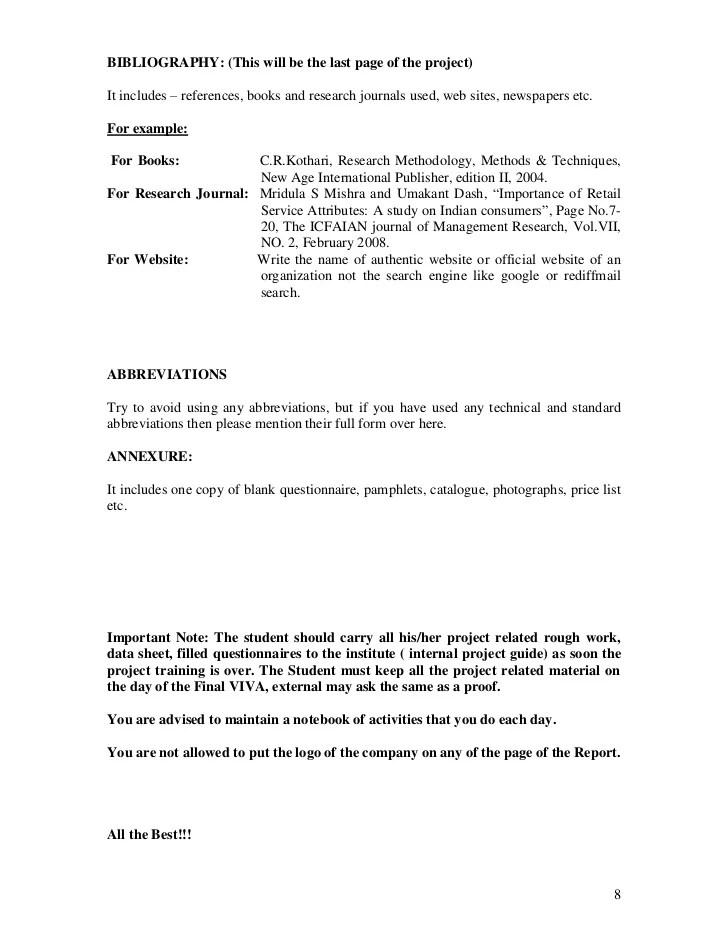 example project report format - Baskanidai