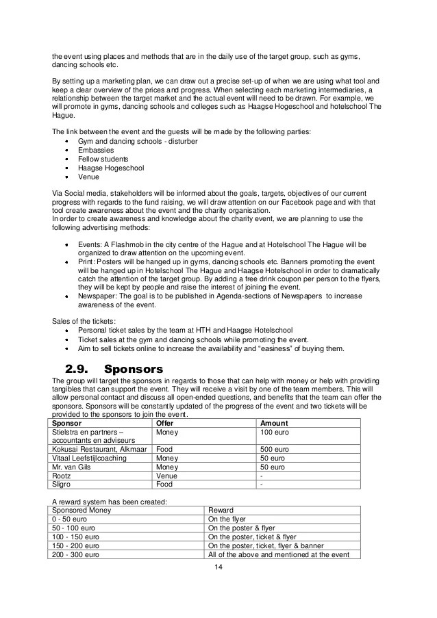 event proposals samples - Onwebioinnovate - event proposal samples
