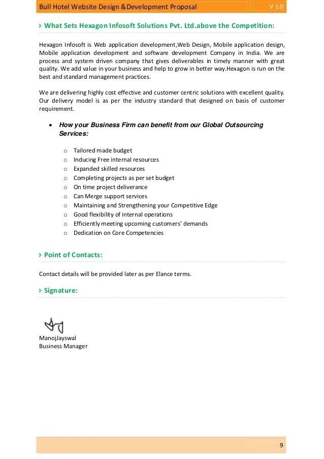web development proposal template - Gottayotti