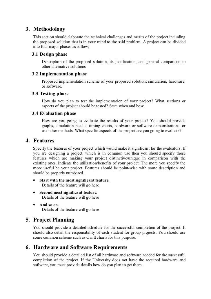 project proposal format - Selol-ink