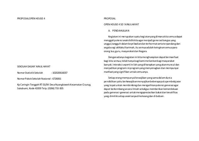 Contoh Proposal Pentas Seni Contoh Proposal Download E Book Gratis Jurnal Proposal Open House 4