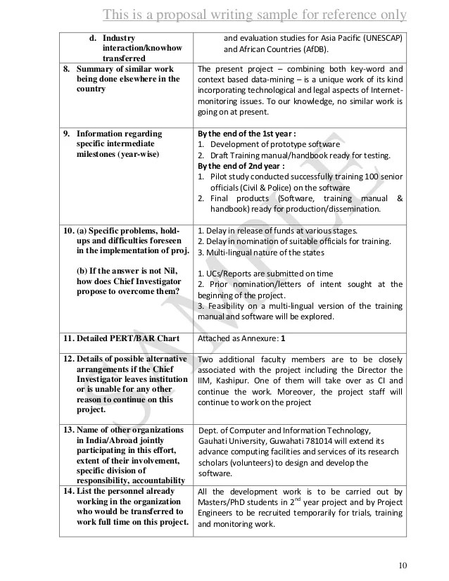 Sample Grant Proposals Office Of Undergraduate Research Proposal Sample 1