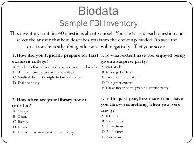 biodata sample form - Minimfagency - how to write biodata