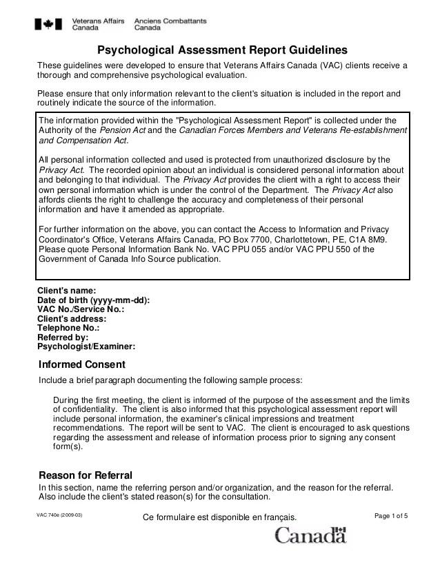 psychological assessment example - Romeolandinez - assessment report format