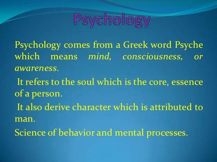 Psychology Ppt