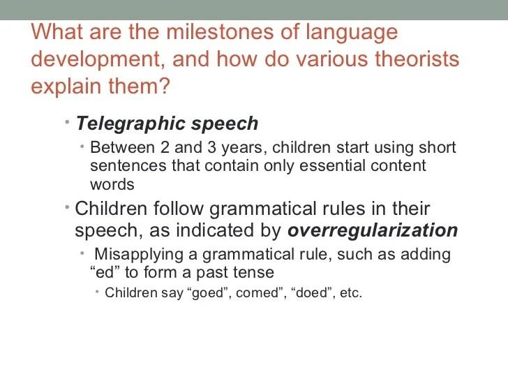 Telegraphic Speech Example Language And Communication Development