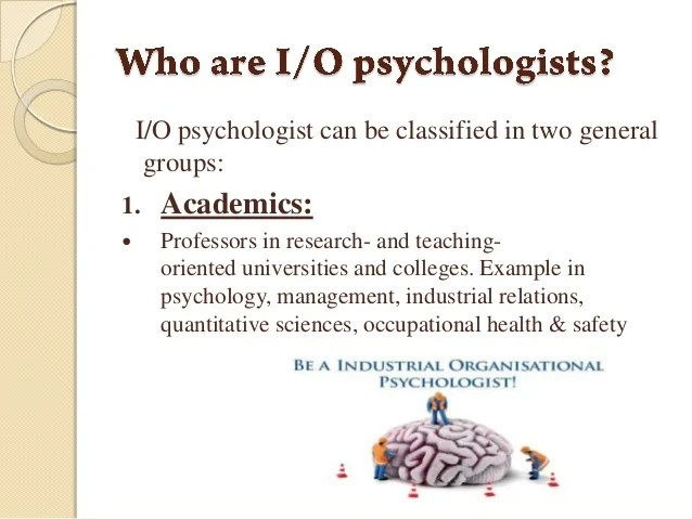 what is industrial and organizational psychology - Funfpandroid - I O Psychologist Sample Resume