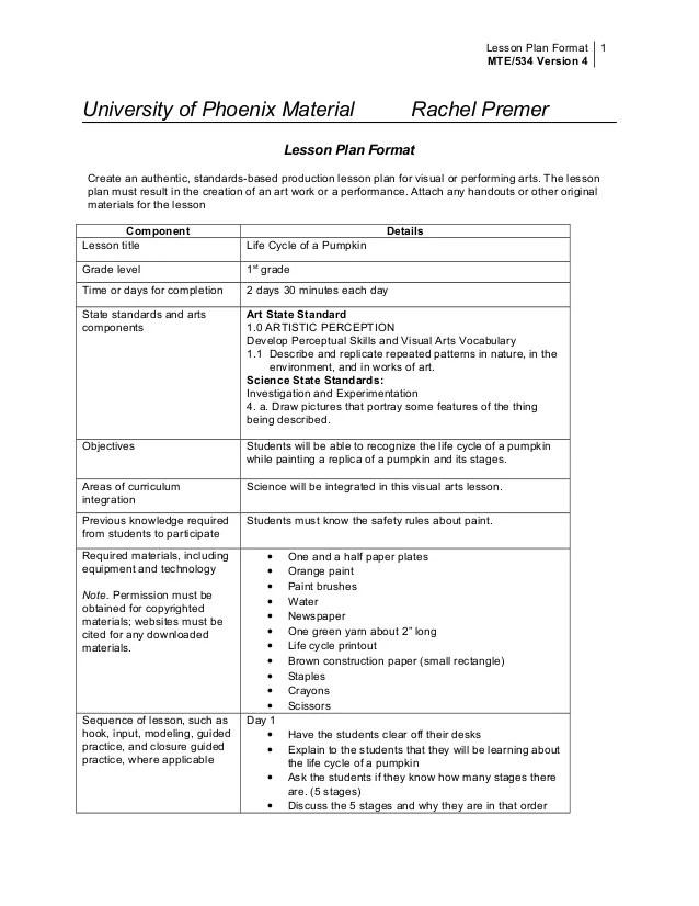 art lesson plan format - Pinephandshakeapp