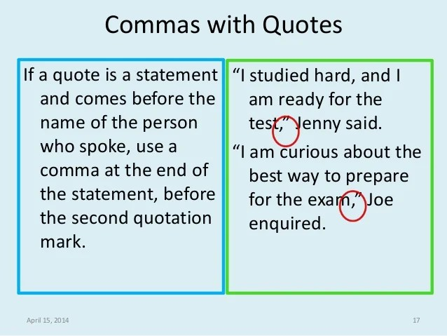 quotes and commas - Pinarkubkireklamowe