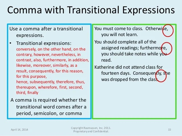 when to use a comma before a name