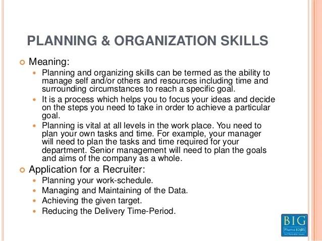 organizational skills meaning - Canasbergdorfbib