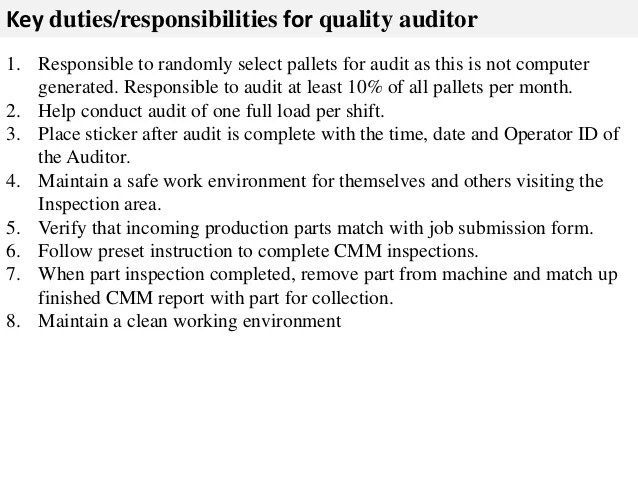 it auditor job description - Roho4senses - Auditor Job Description
