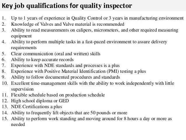 Quality control job description - Quality Control Job Description