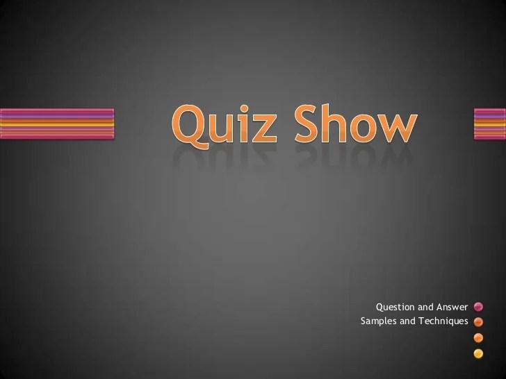 quiz show template powerpoint - Onwebioinnovate