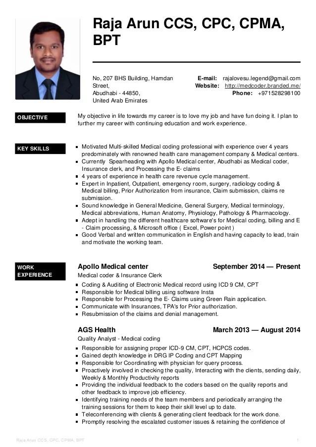 medical coder resume - Intoanysearch - medical coder resume