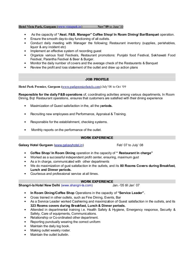 banquet captain resume stunning hotel general manager resume in