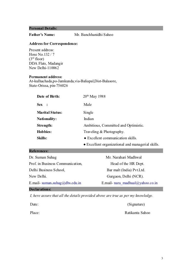 Monster India Job Search Job Vacancies Job Ratikanta Resume