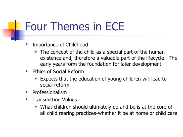 Education Lesley University Rationale Supporting Early Childhood Education