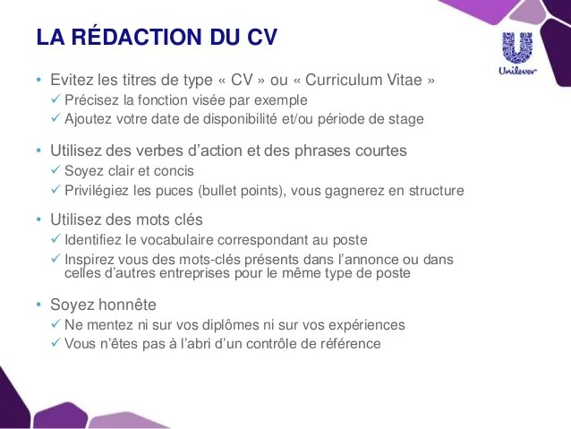cv rediger experiences professionnelle