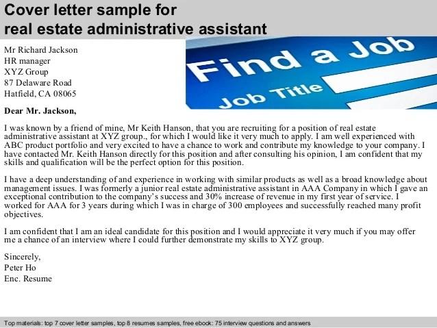 cover letter for real estate administrative assistant - Baskanidai - administrative assistant cover letter