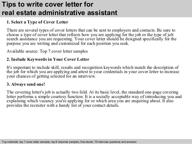 real estate assistant cover letter - Josemulinohouse