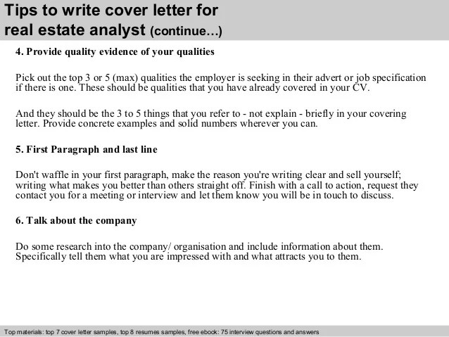real estate analyst cover letter - Apmayssconstruction