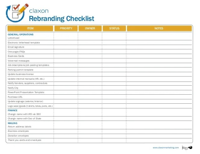 28 Hr Checklist Templates Free Sample Example Format Rebranding Checklist