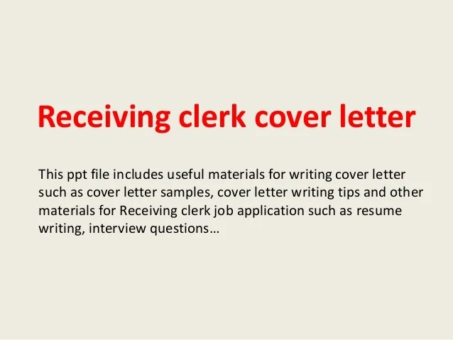 Writing A Cover Letter Powerpoint Teachers Professional Resumes Australian School Receiving Clerk Cover Letter