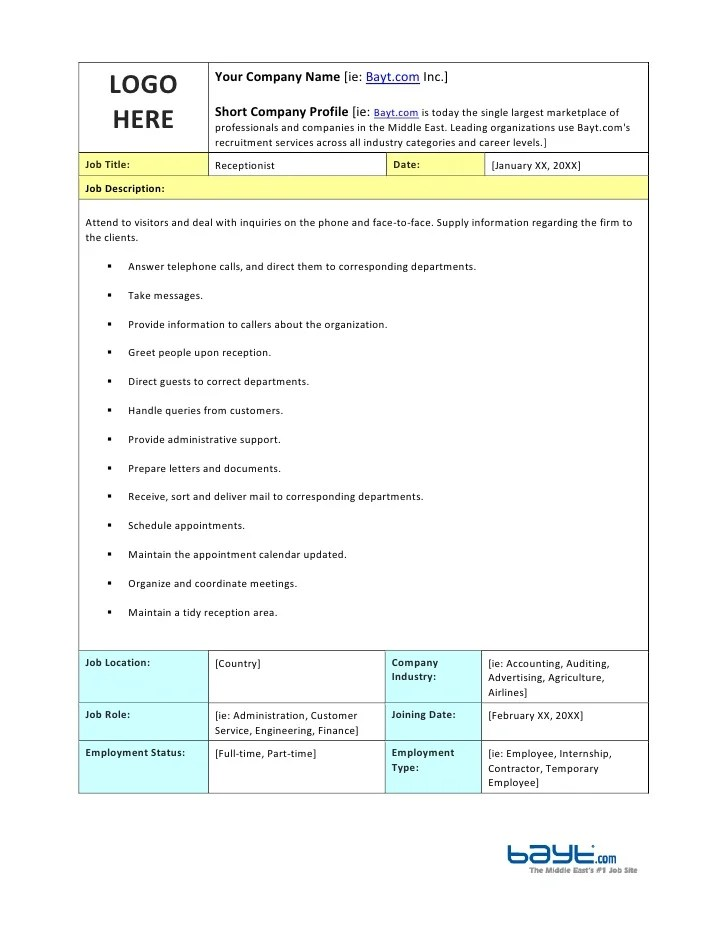 Job Description Analysis Example | Sample Cover Letter Of