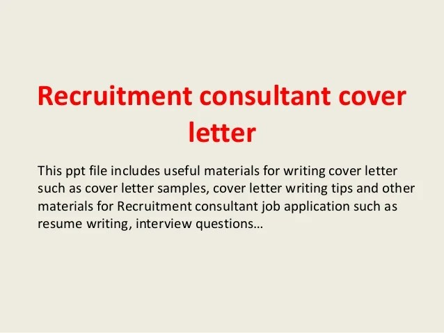 cover letter consultant