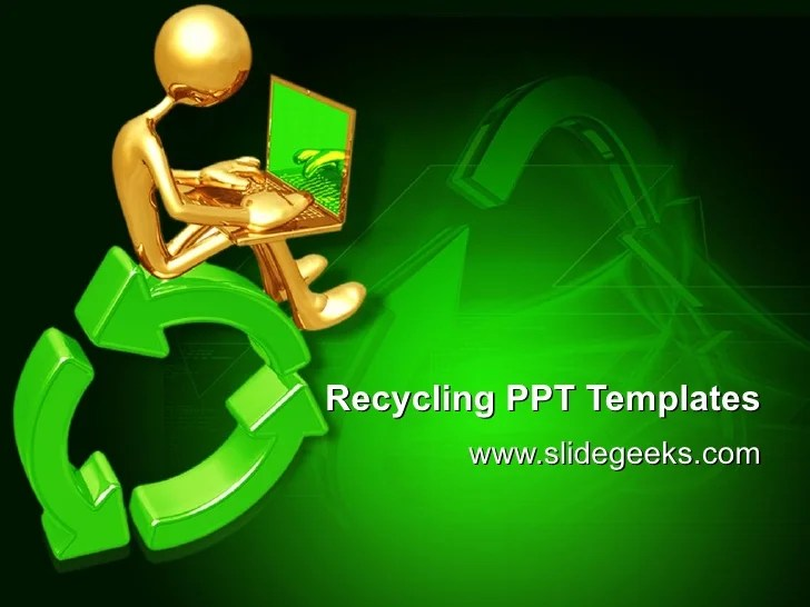 recycling powerpoint templates