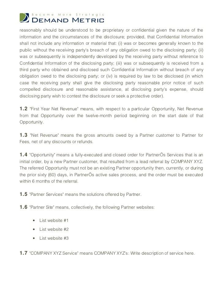 sales partnership agreement - Ozilalmanoof