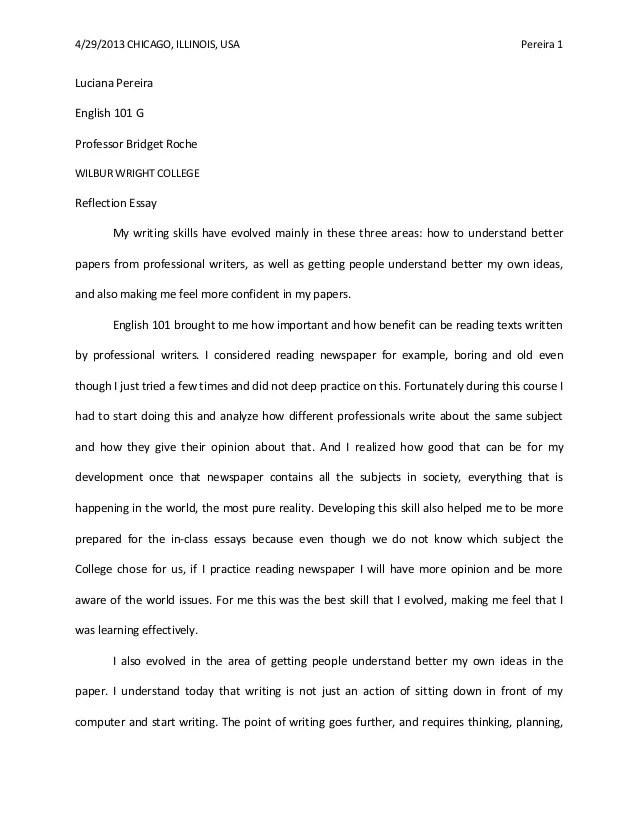 english reflective essay example reflective essay thesis vsxslpt - reflective analysis essay examples