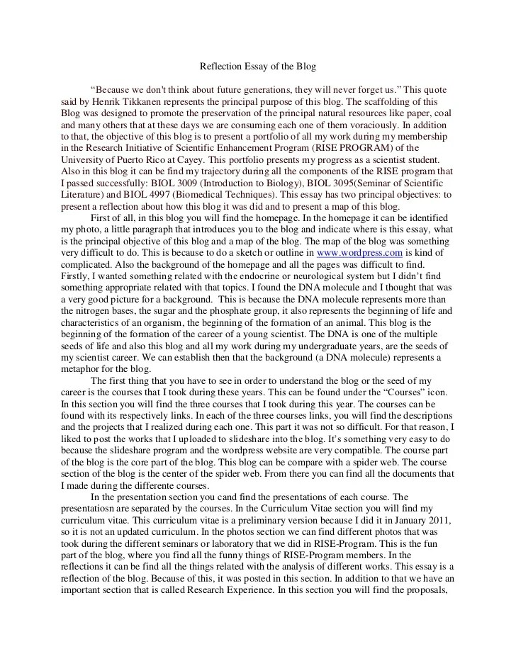 Essay About Intelligence Personal Experience