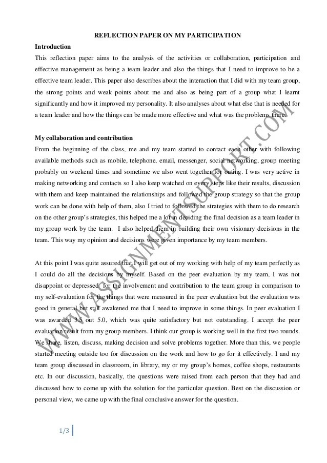 self assesment essay College students, job seekers or professionals looking to advance their careers may be called upon at some point to write a self-assessment and reflection paper this.
