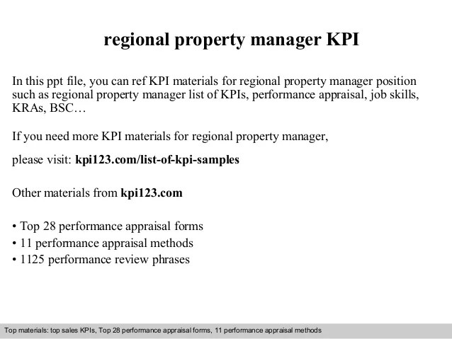 regional property manager job description - Minimfagency - property manager job description