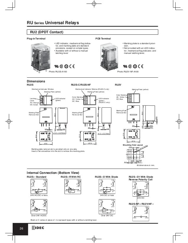 idec rh2b u relay wiring diagram